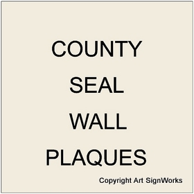 X33302 -  Carved Wood Wall Plaques of County Seals