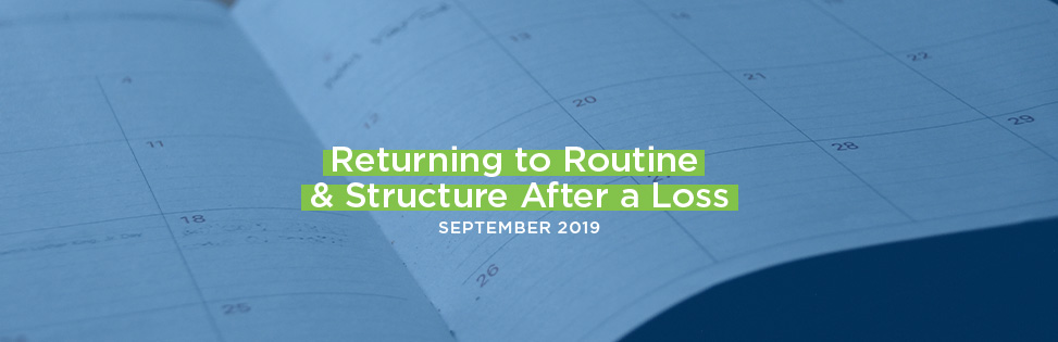 Returning to Routine & Structure After a Loss