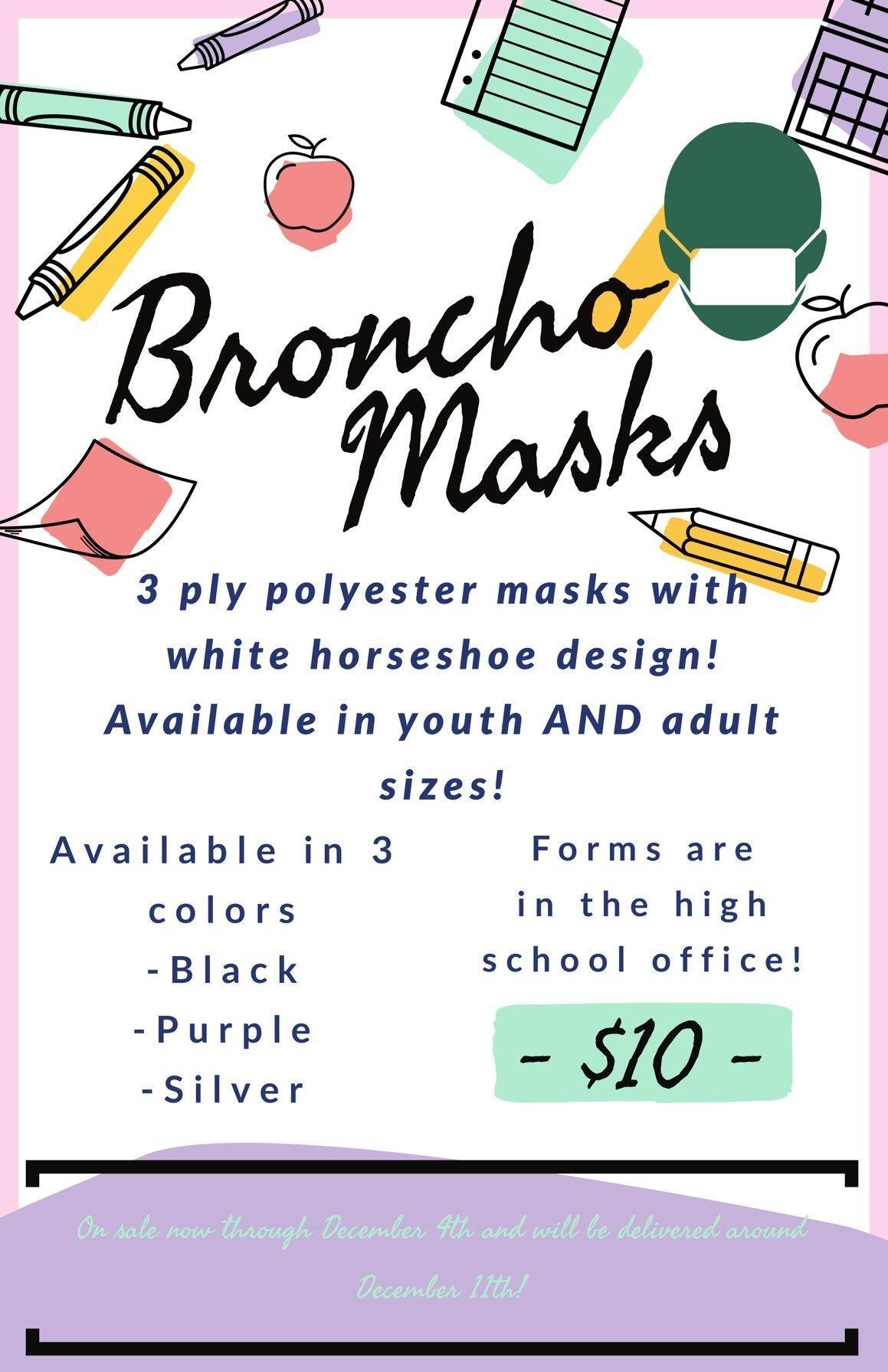 Broncho Israel Exchange Mask Fundraiser - Deadline 12/4