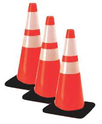 "Traffic Cone (Hi Reflective)-28"" Cone, Wide Base"