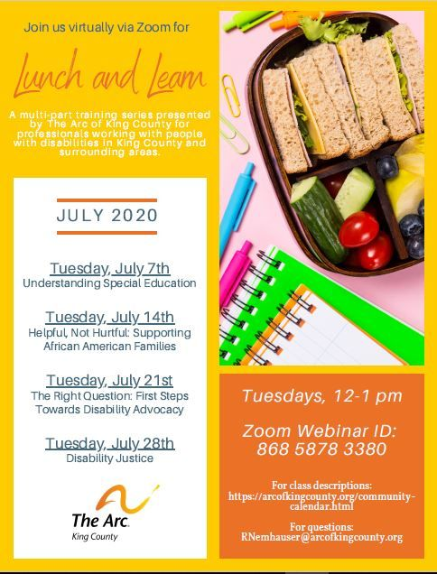 Lunch and Learn: Helpful, Not Hurtful: Supporting African American Families