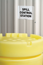 A01UB400 Spill Control Station Sign