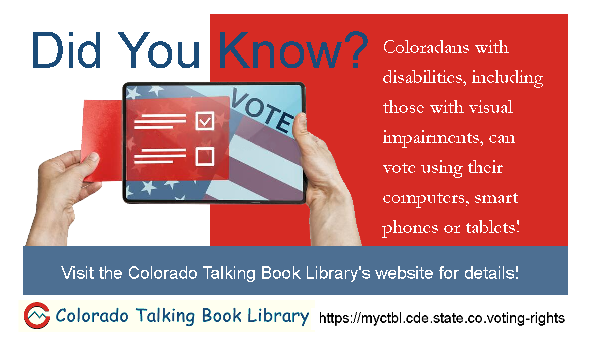 Electronic Ballot Marking System Available to Colorado Voters with Disabilities