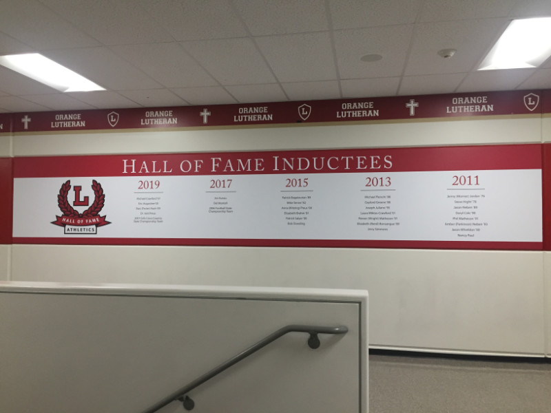 Wall Graphics for High Schools in Orange CA