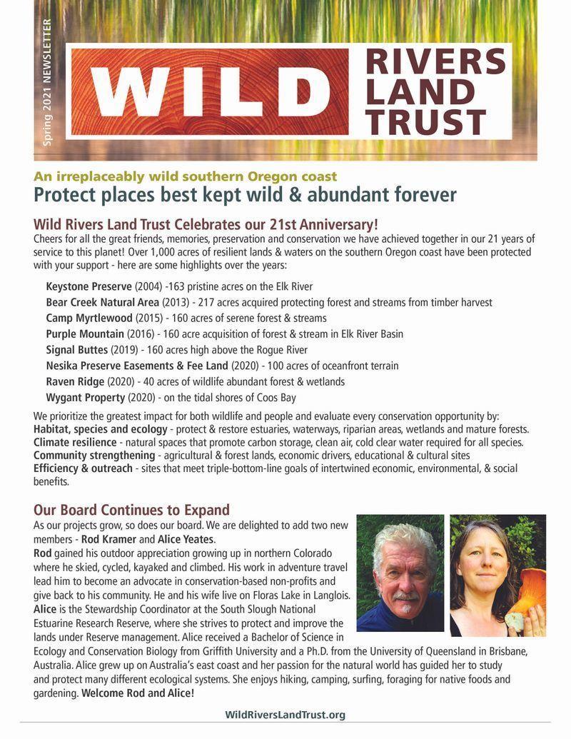 WRLT Spring 2021 Newsletter