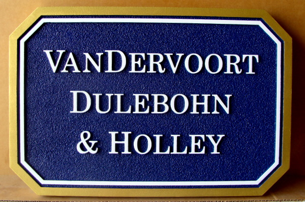 C12118  - Sandblasted HDU Name Sign for Financial Planning Group , with Raised Text and Border