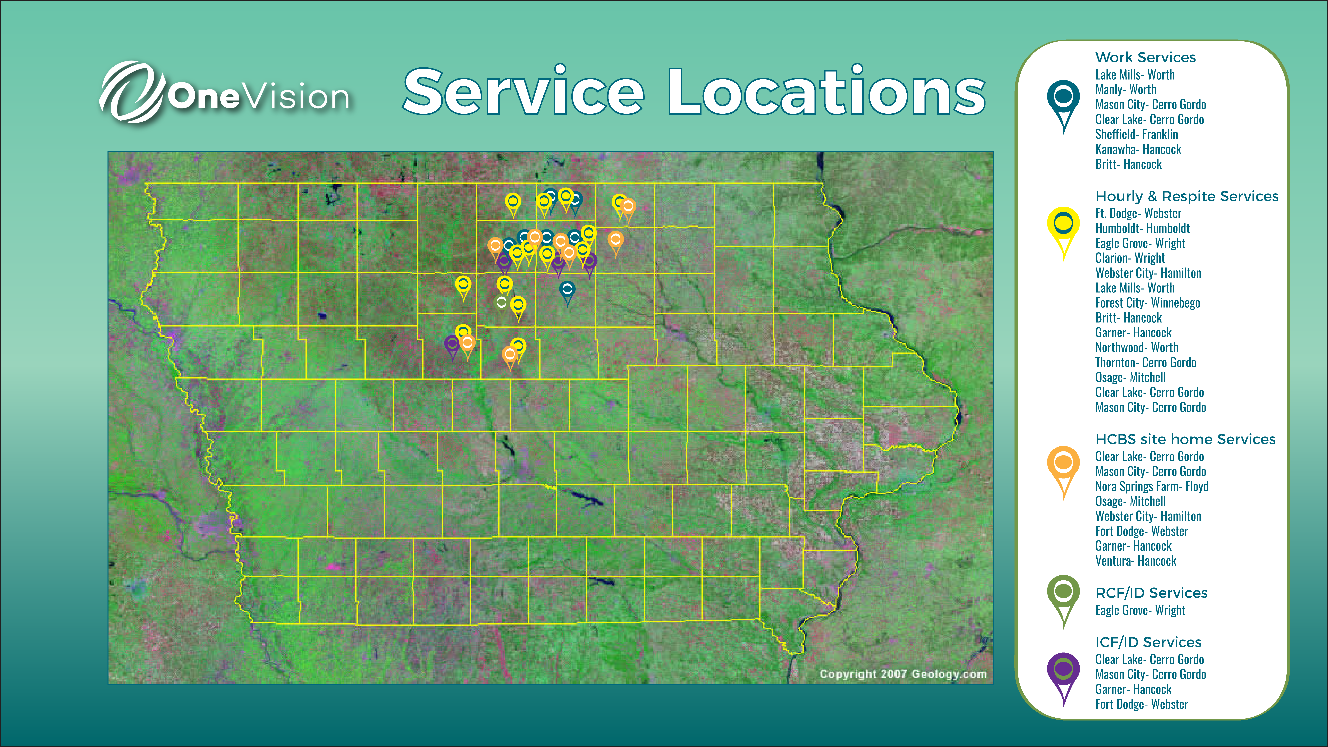 One Vision's Services Across Iowa
