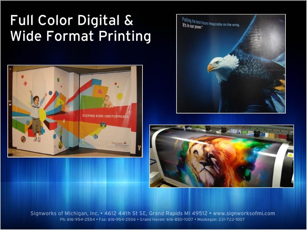 Full Color Digital & Wide Format Printing