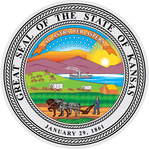 W32210 - Great Seal of Kansas Wall Plaque
