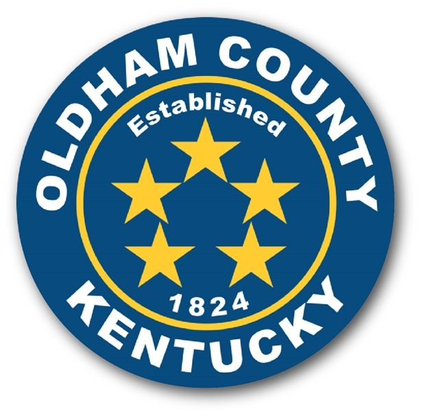 CP-1395 - Plaque of the Seal of Oldham County,Kentucky,  Giclee