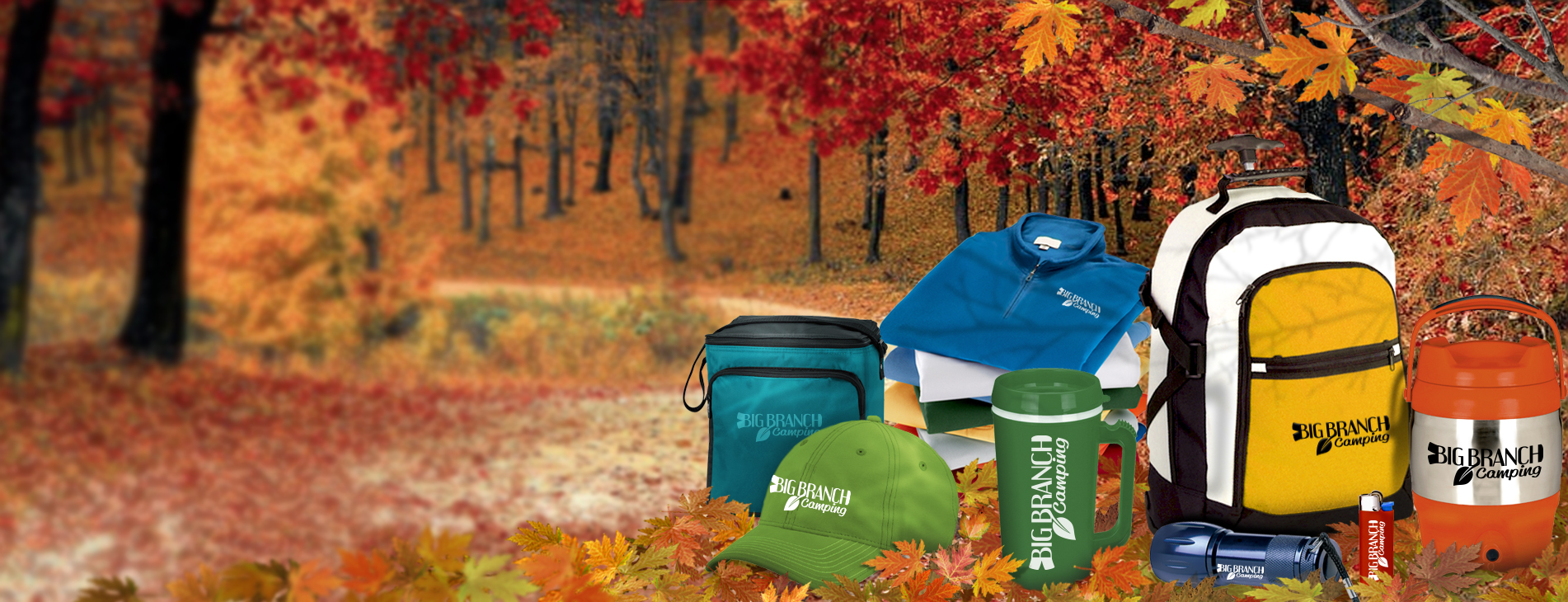 Branded apparel, bags, water bottles, and more!
