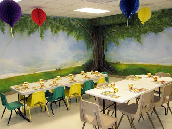 Our decorated party room.