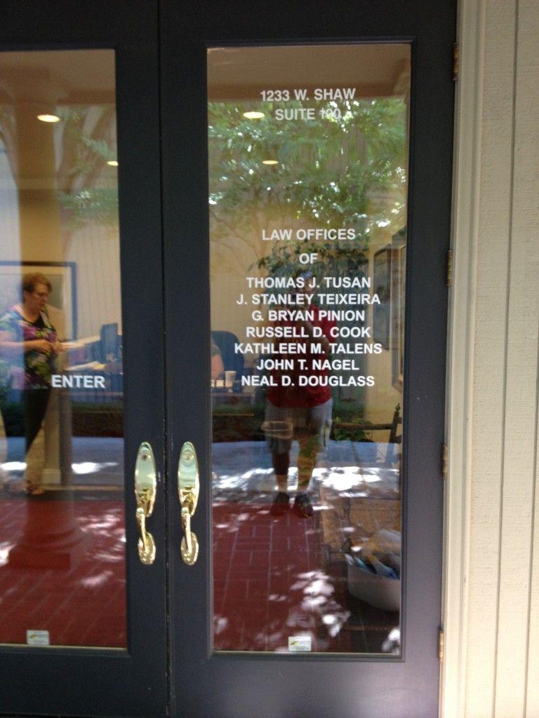 Law Office Door Lettering