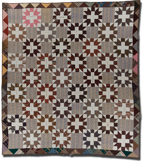 Friendship Block, made by Mercy Jane Bancroft Blair, made in South Apalachin, New York, c. 1855-1863, 90 x 79, IQSCM 1997.007.0852