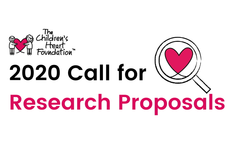 The Children's Heart Foundation's 2020 Call for Research Proposals is Open
