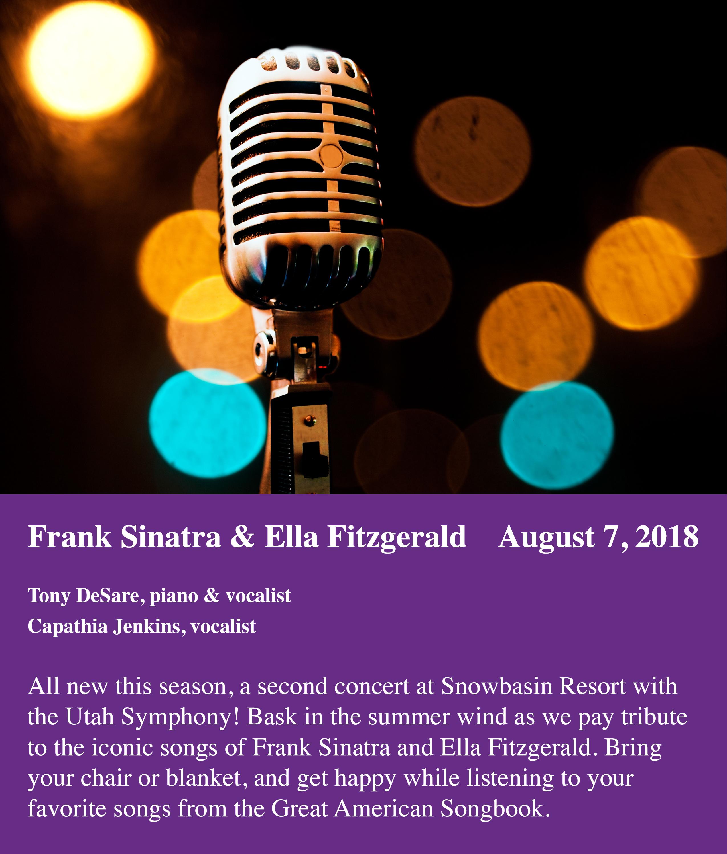 UTAH SYMPHONY: FRANK SINATRA & ELLA FITZGERALD SONGBOOK - August 7