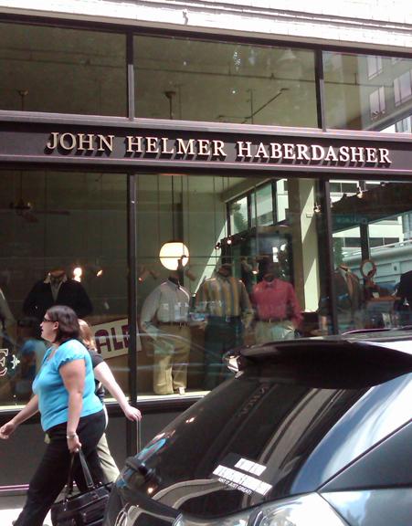 John Helmer Haberdasher Dimensional Lettering
