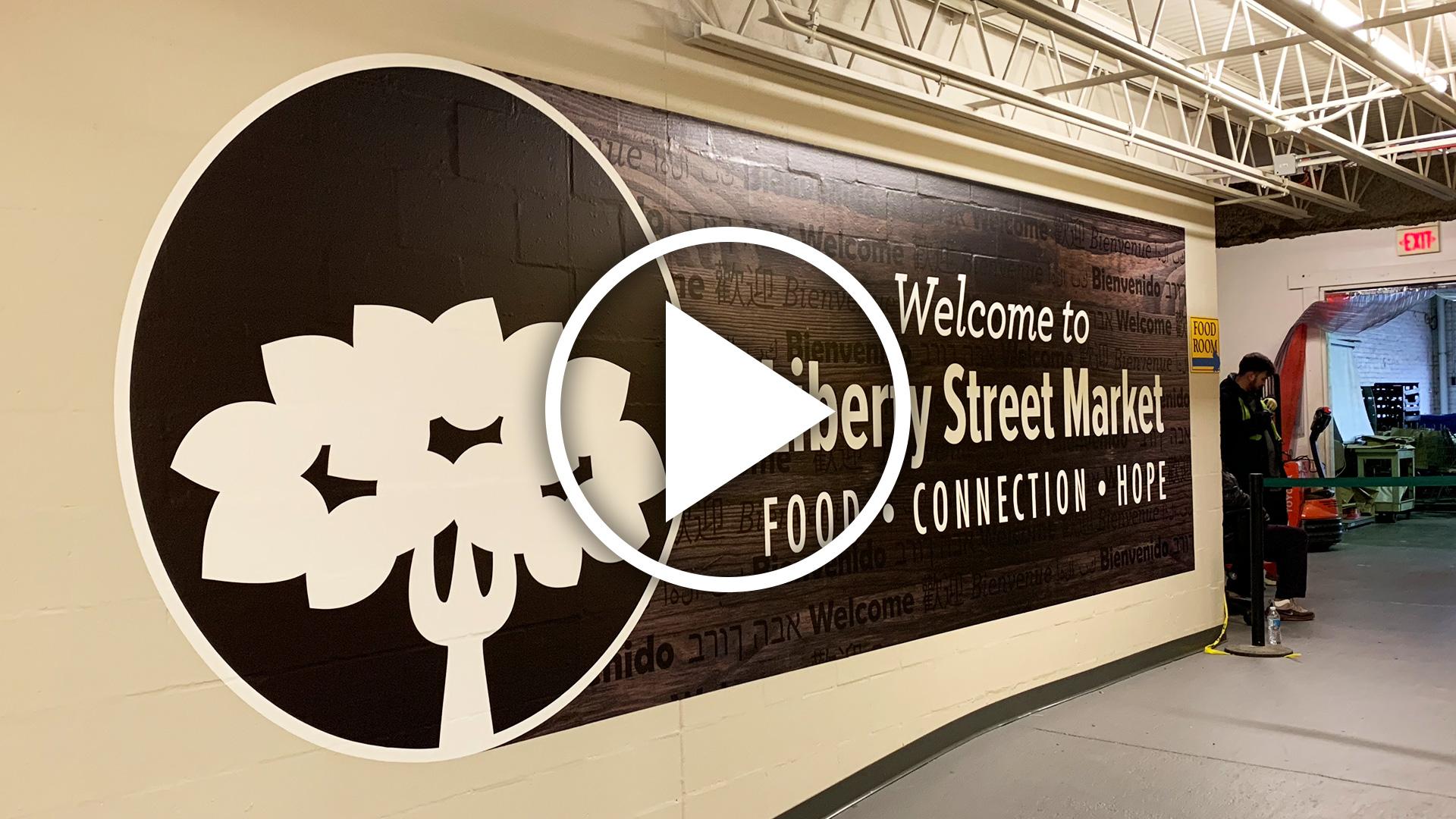 Liberty Street Market Entrance Wall Install