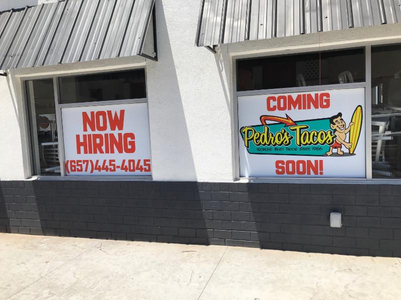 Drive Through Restaurant Window Graphics | Fullerton GA