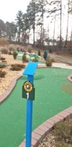 E14851-  Miniature Golf Hole Signs and Steel Scorecard Writing Stands, for the Big Rock Fun Park