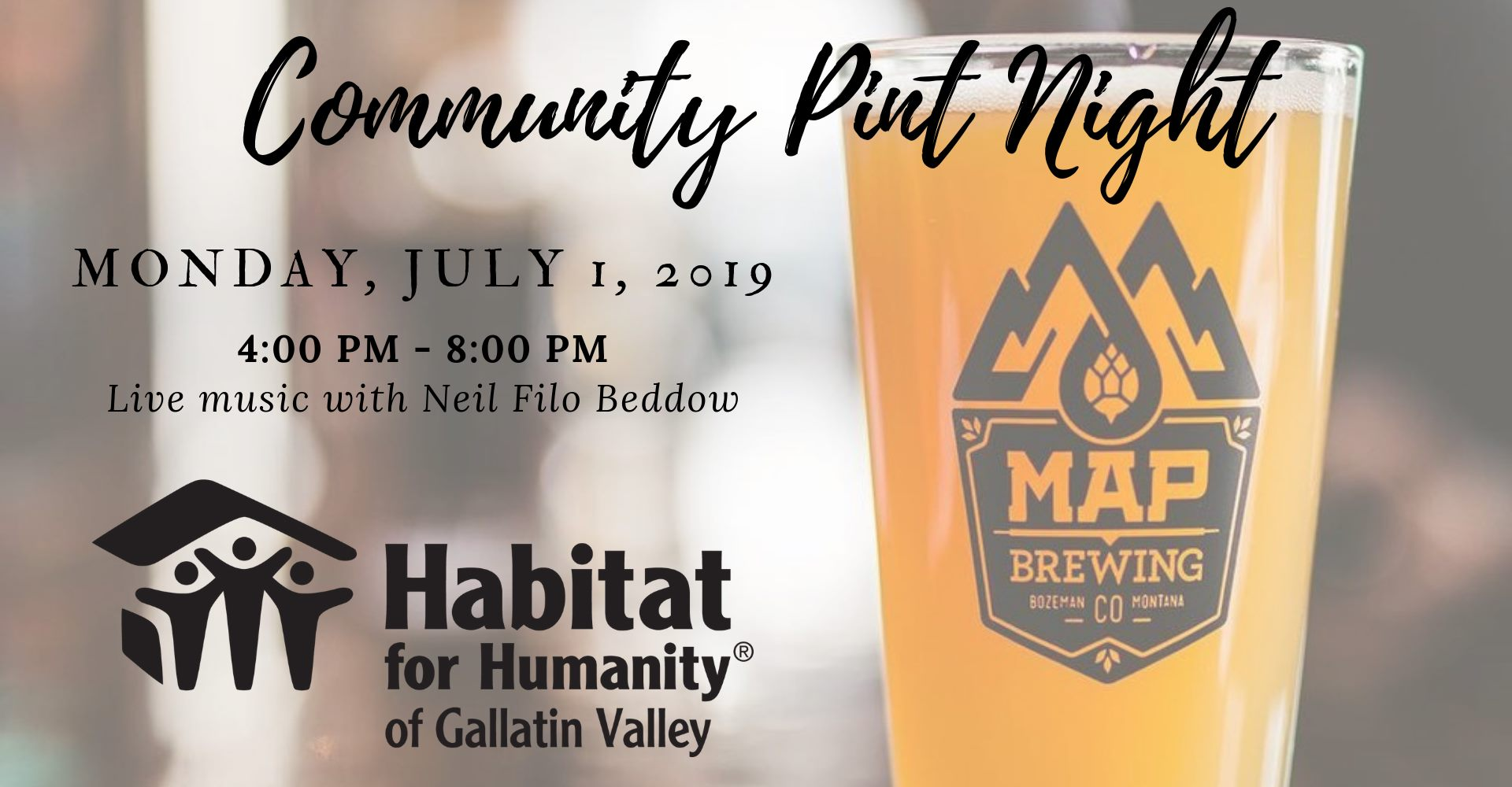 Community Pint Night at Map Brewing