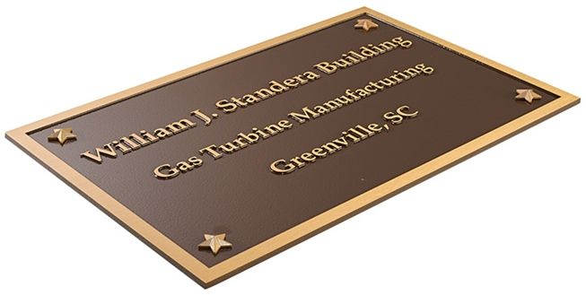 MH8070 - Cast Bronze Plaque for Company Identification, 2.5-D