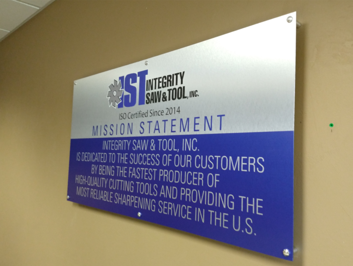IST interior sign