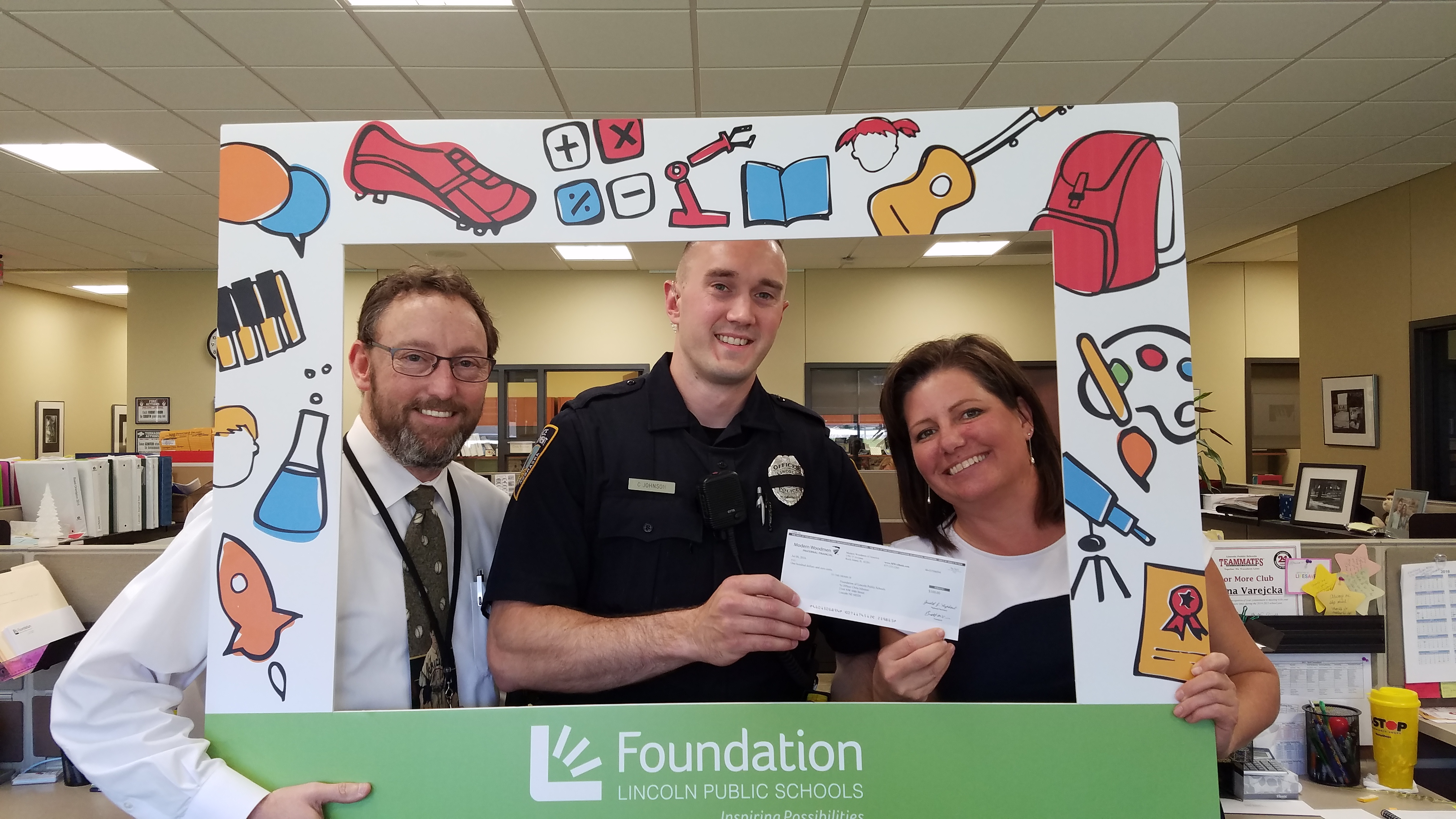 Local Hero Donates Award to LPS Students