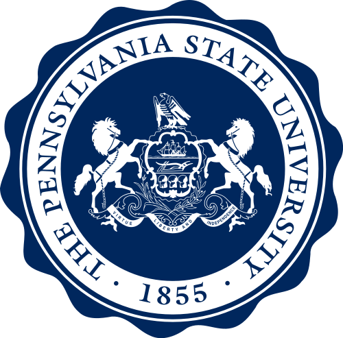 Y34376 - Carved 2.5D Flat Relief Wall Plaque of the Seal of Pennsylvania State University