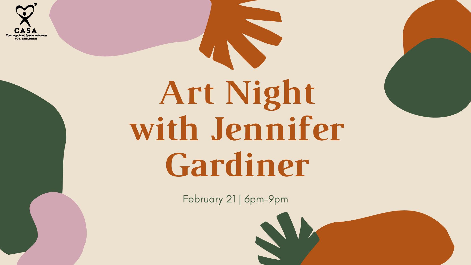 Art Night with Jennifer Gardiner