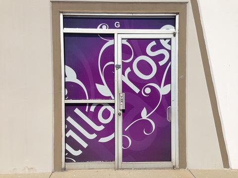 Vinyl door and window graphics Orange County