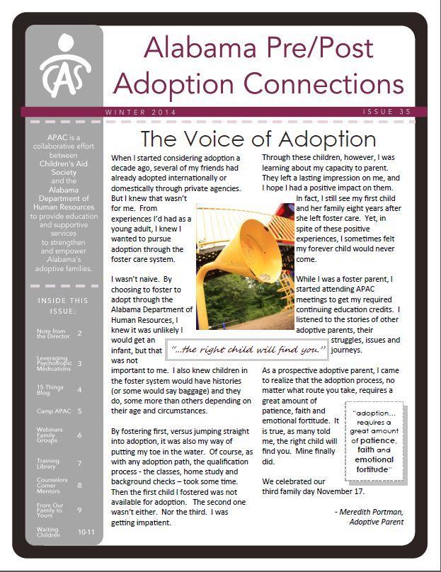 APAC Newsletter Winter 2014