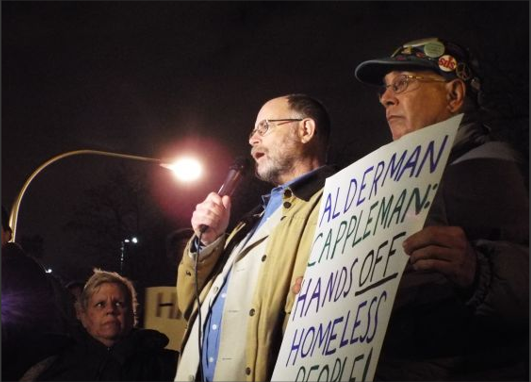 Chicago homeless, advocates confront Ald. Cappleman