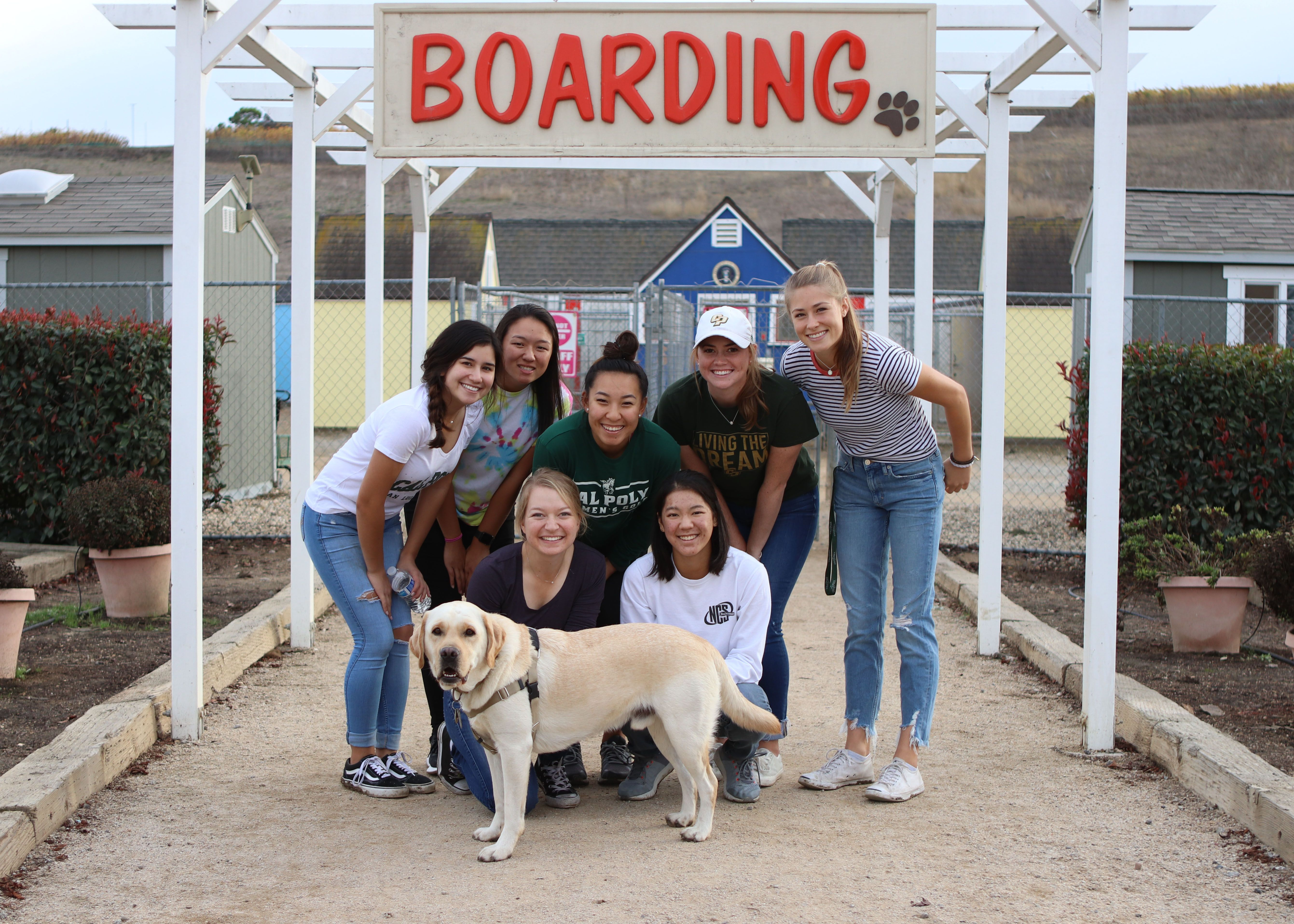 Thank you to the Cal Poly Women's Golf Team Volunteers!