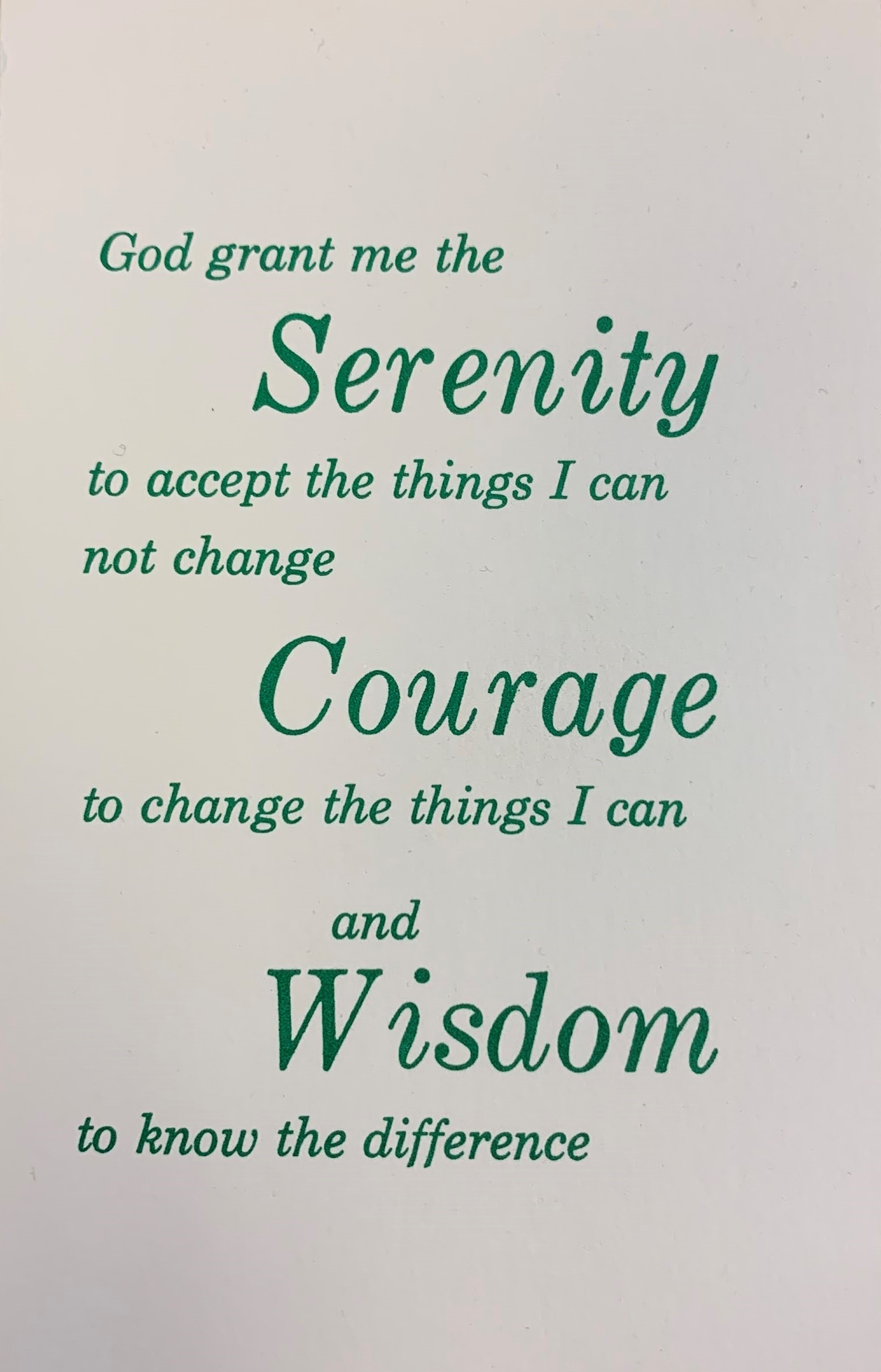 #77 — Serenity Prayer Greeting Cards (10/pk)