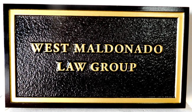 A10172 - Carved and Sandblasted Sign for Attorney,