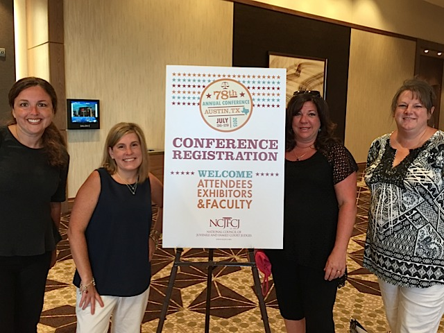 Legal team promotes Legal Partnership for Permanency at National Council of Juvenile and Family Court Judges annual conference