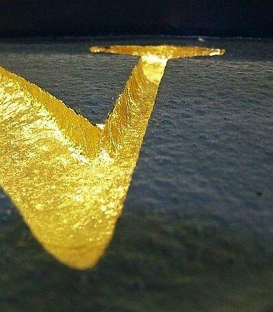 Gold Leaf Lettering