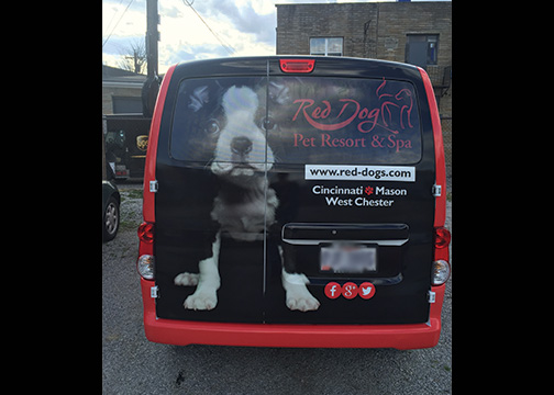 Red Dog Full Van Wrap 4