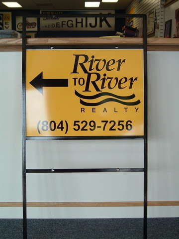 Real Estate Directional Sign