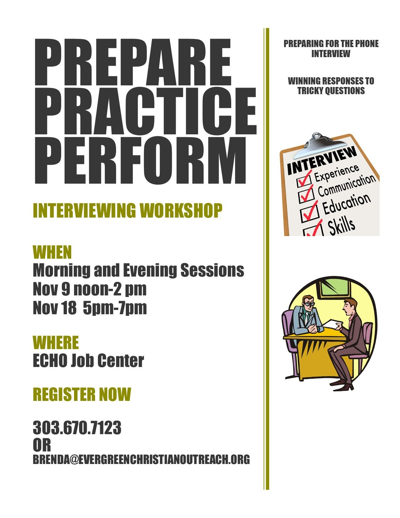 Prepare, Practice, Perform