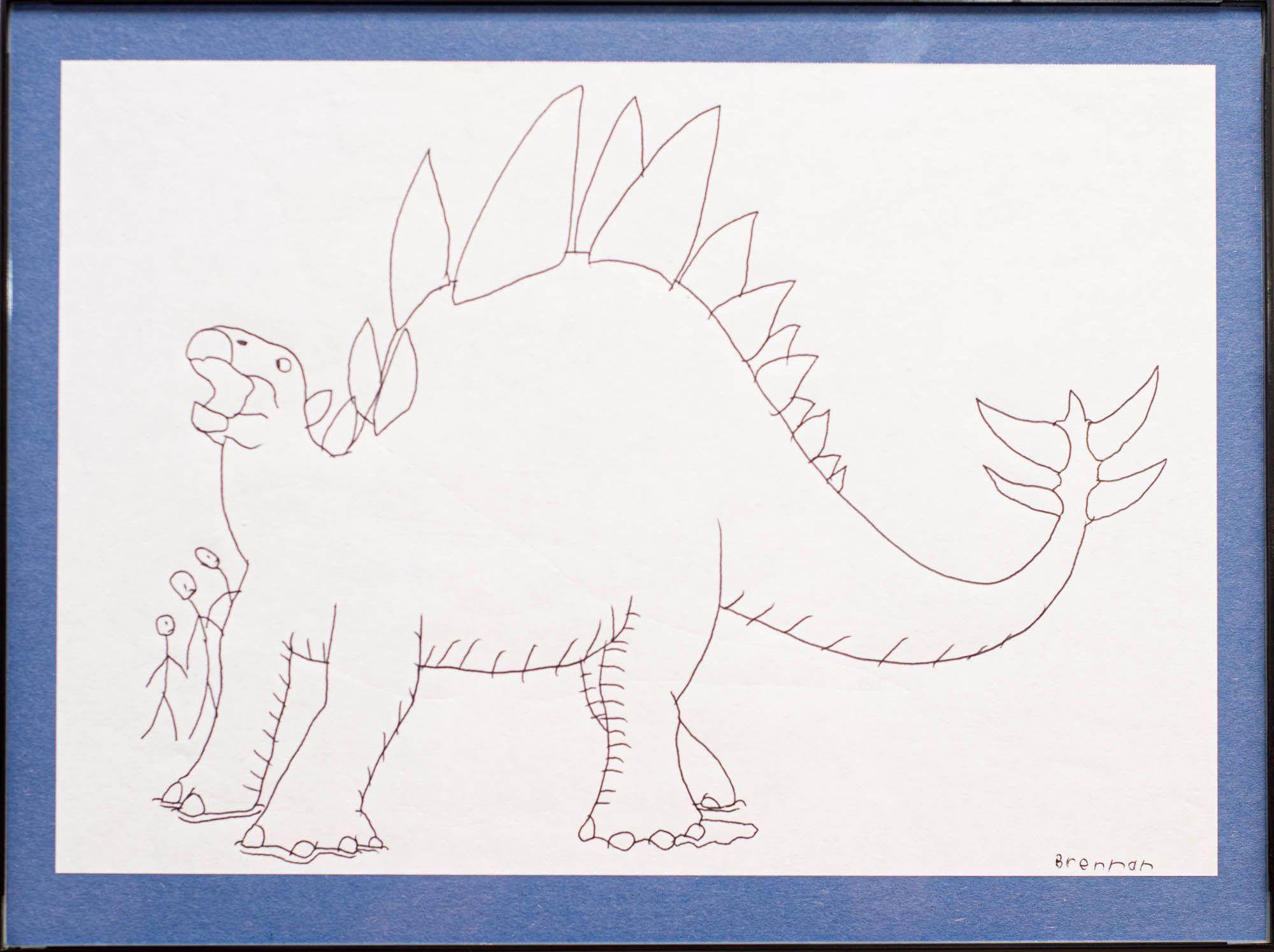 """Brennan Nielson - """"Swishy-Tailed Stegosaurus"""""""