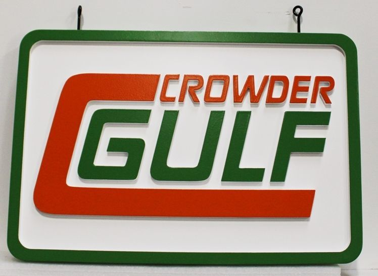 S28192 - Carved  2.5-D HDU Sign for Crowder Gulf