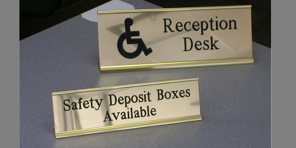 Reception Counter Signs