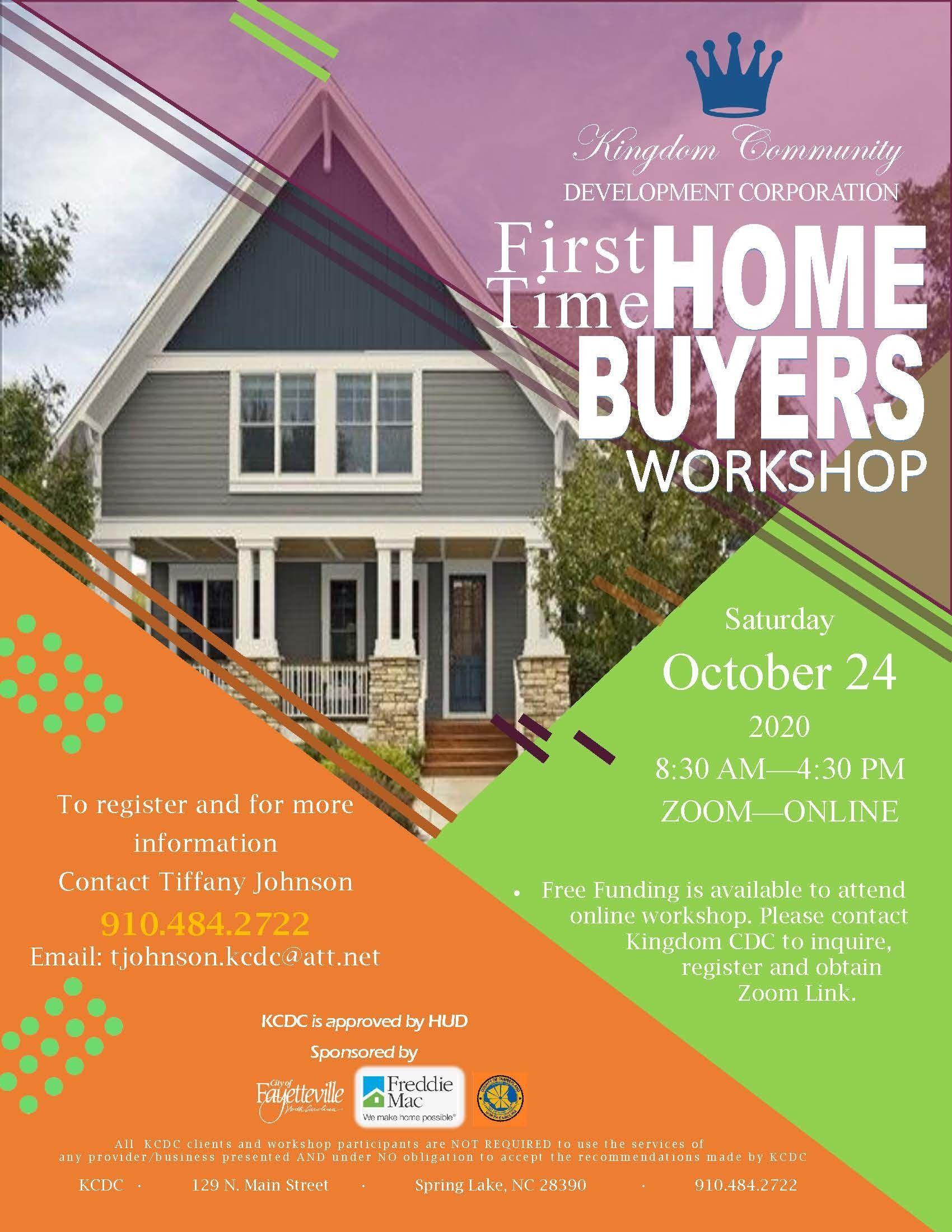 Kingdom Community Development Corporation First Time Home Buyers Workshop