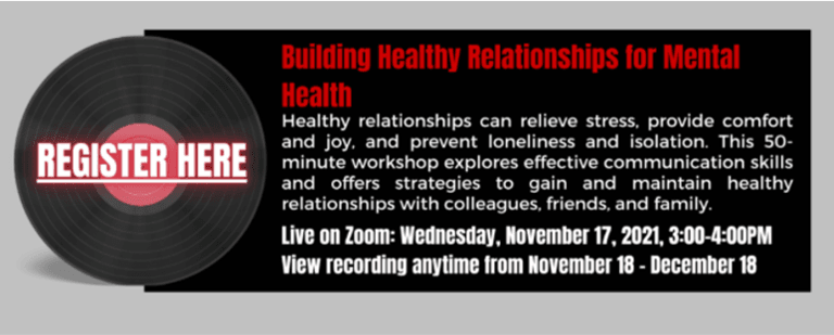 November 17th: Building Healthy Relationships for Mental Health