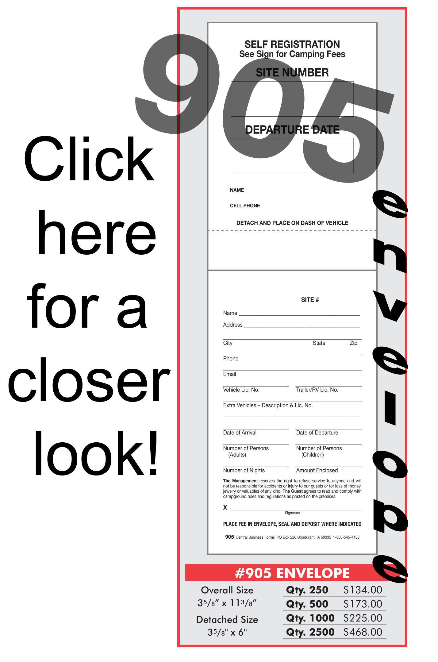 Self Registration Envelope