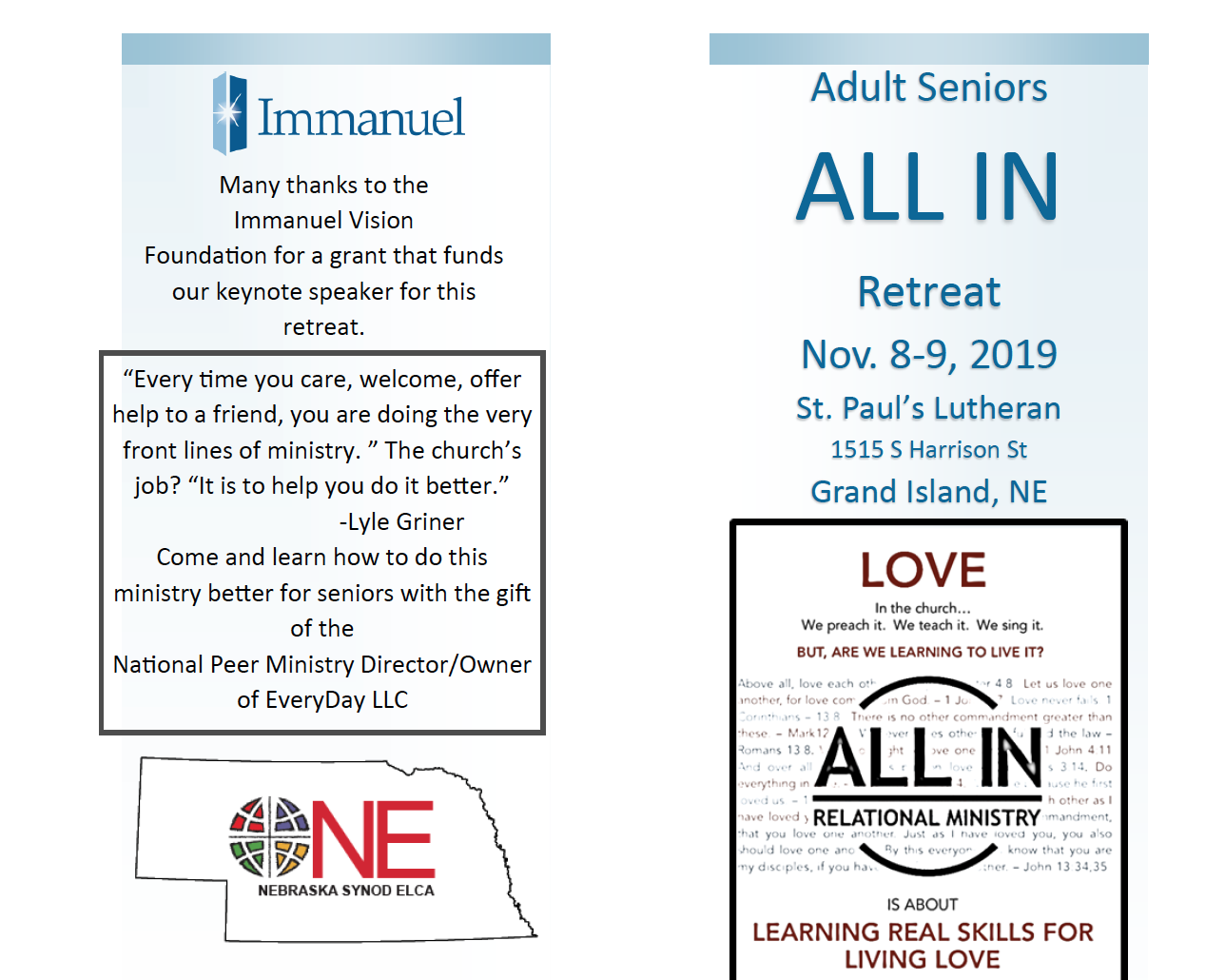 Seniors All In: A retreat for building senior ministry