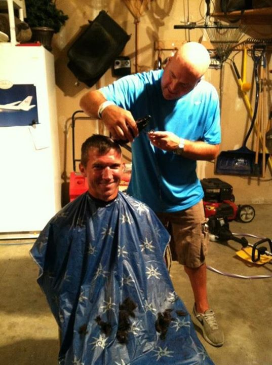 Another shaved head for Sammy, thanks Jon!