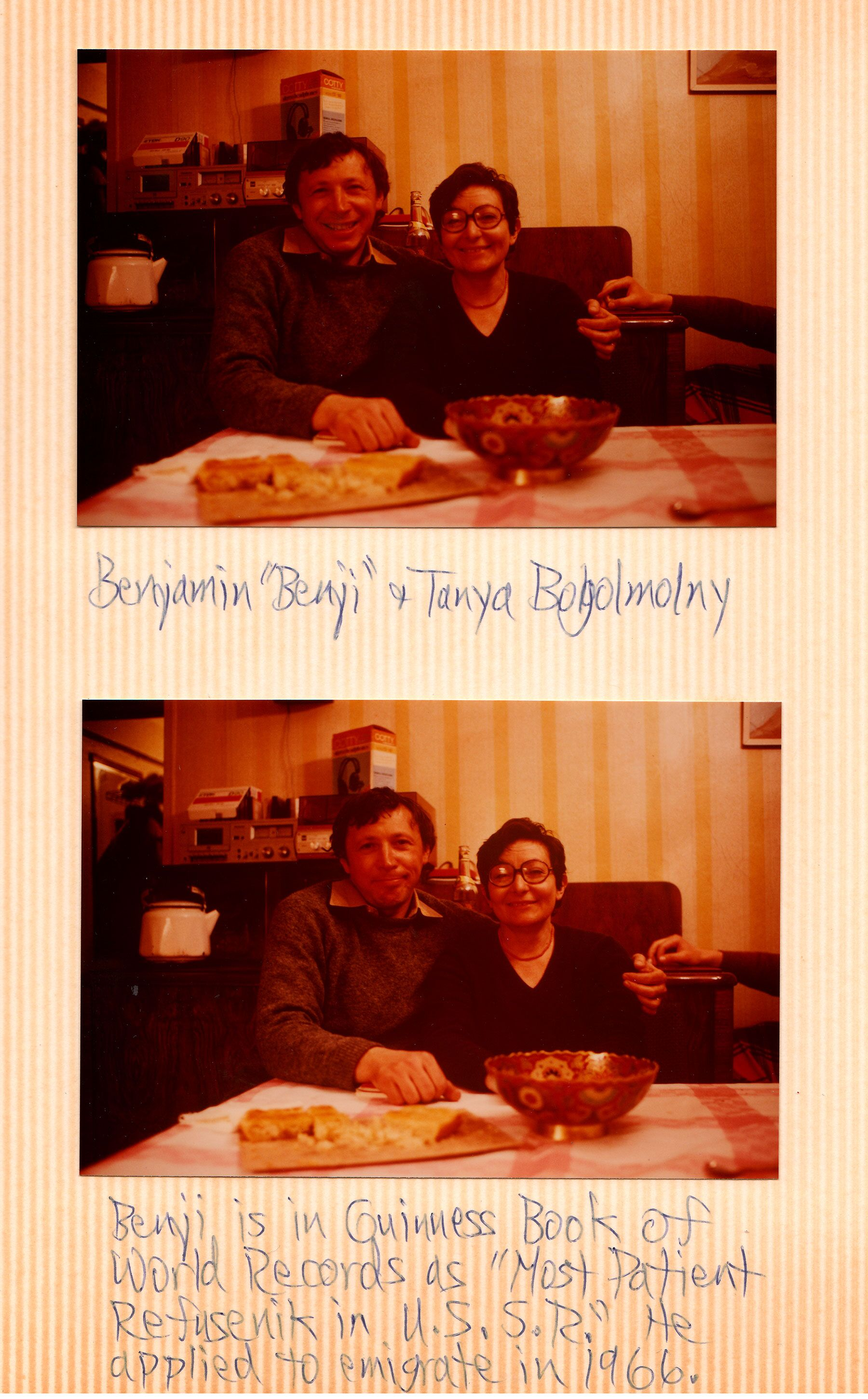 Scan from Hamer's scrapbook showing Bejamin and Tanya